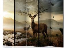 Paraván - Deers by mountain stream II [Room Dividers]